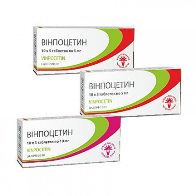 Vinposetin, tablets 5mg, 10mg №10х3
